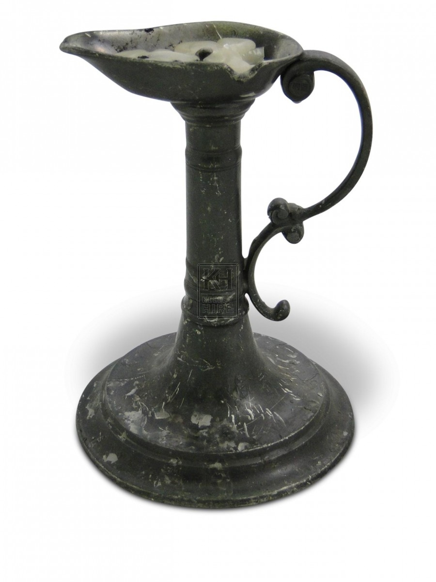 James Spike Bedside Pewter Candleholder