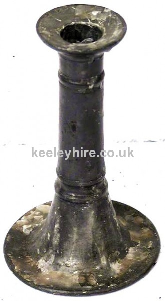 Horn Shaped Pewter Candlestick