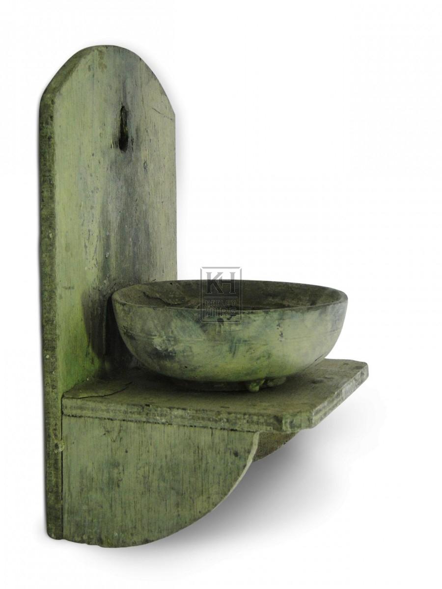 Wall Mounted Wood Candleholder #2