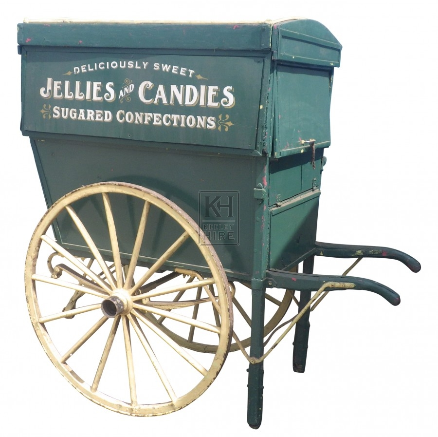 Large green traders hand cart