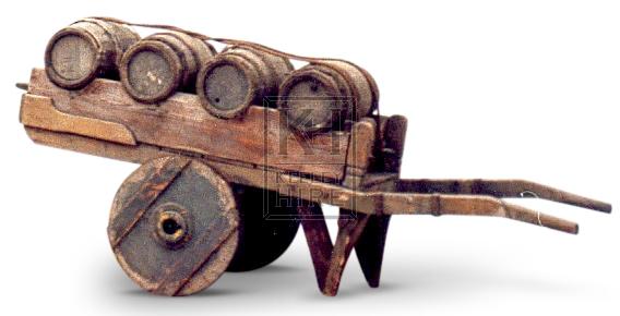 Hand Cart With 4 Barrels