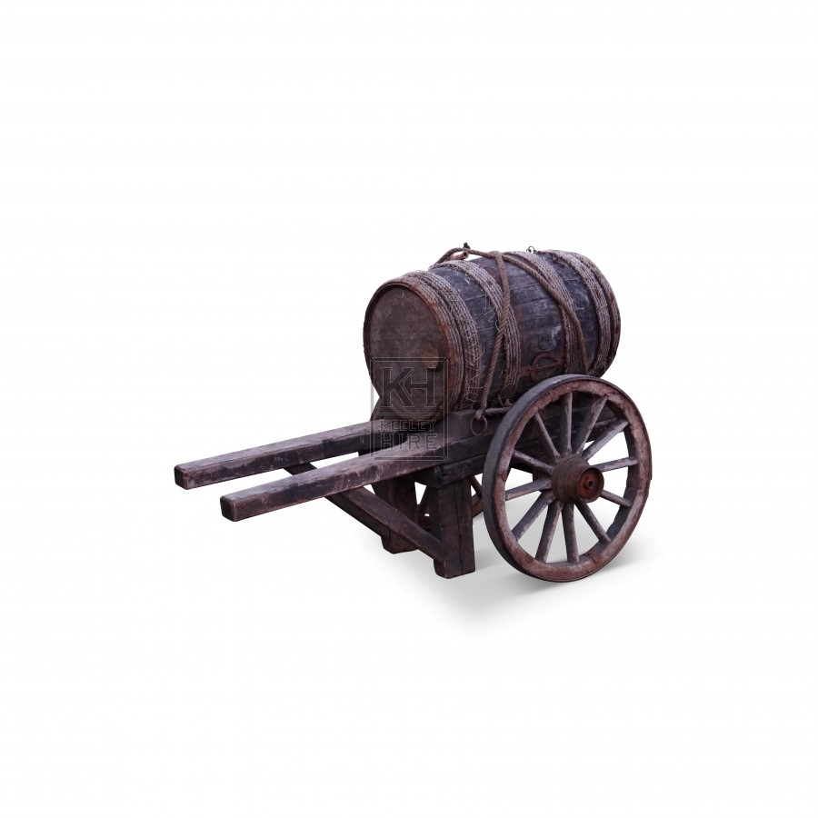 Hand Cart With Barrel