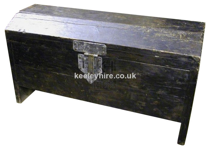 Large Shaped Top Dark Coffer Chest