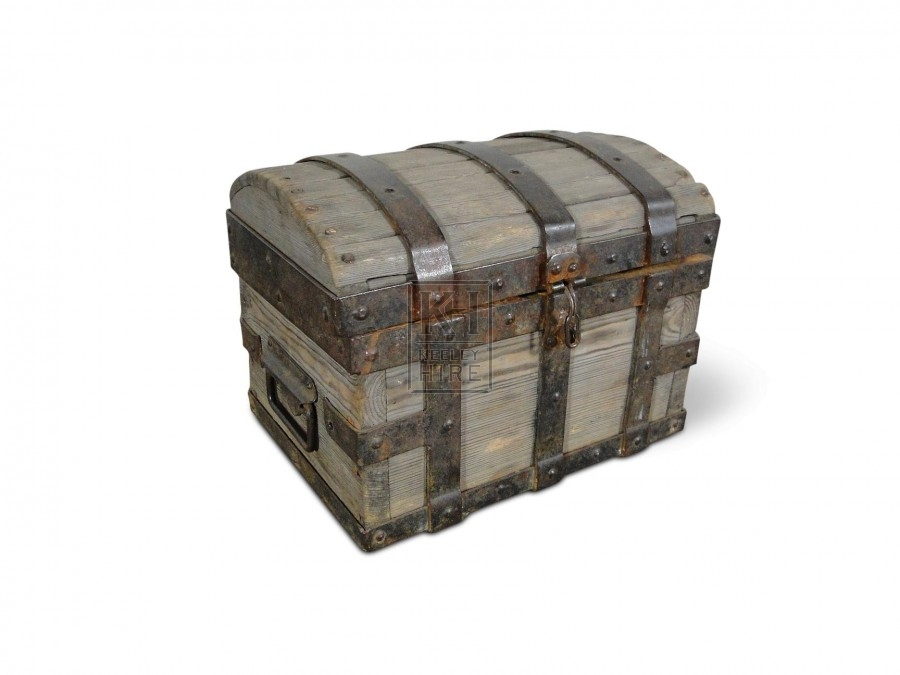 Small Wood Dome Top Chest