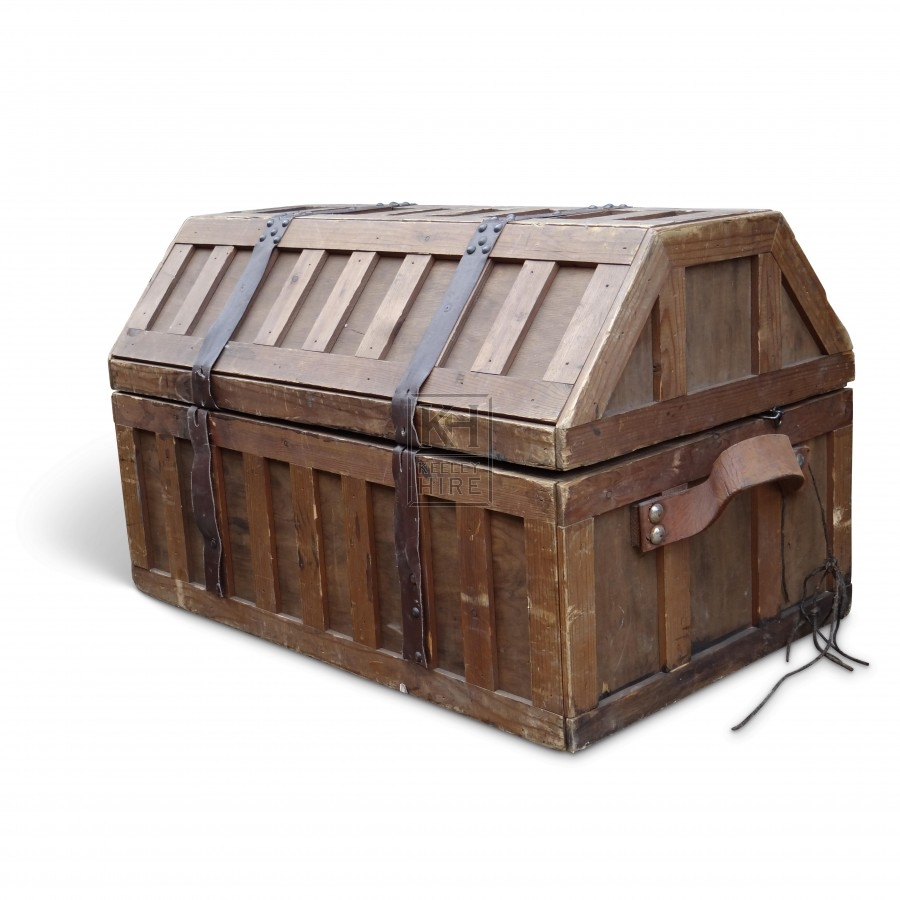 Shaped Top Wooden Chest