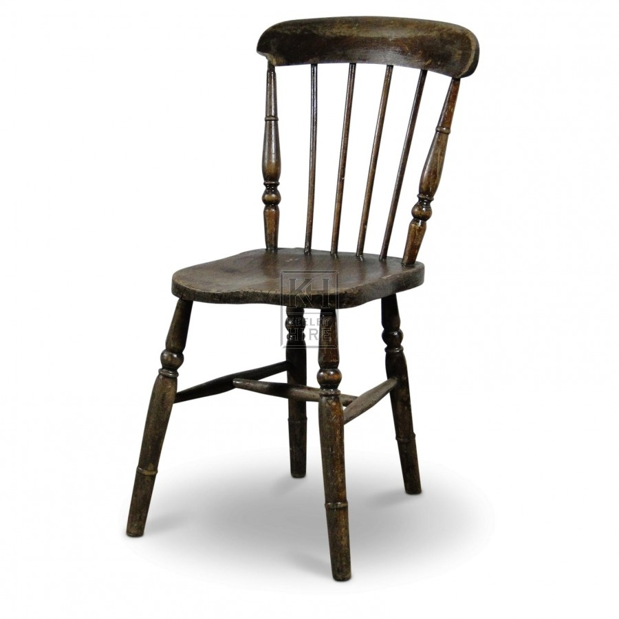 Spindle Back Chair with square seat
