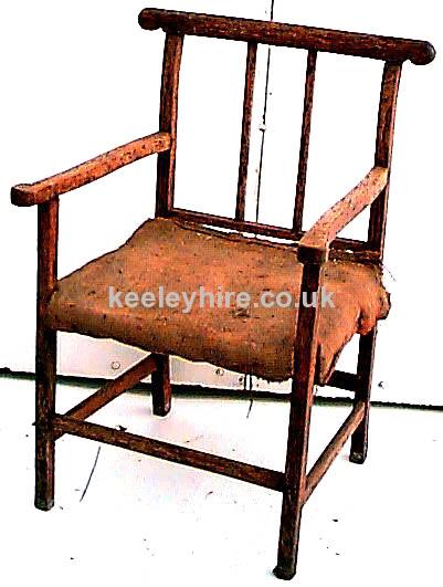 Hessian Seat Arm Chair
