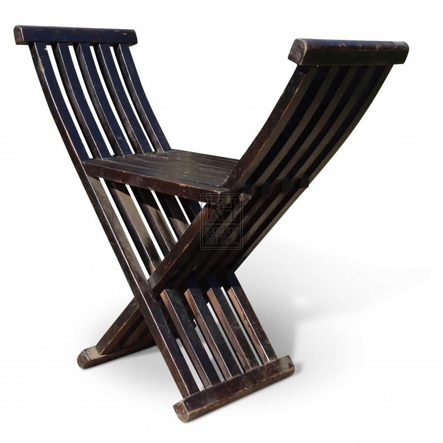 Folding Slatted Chair
