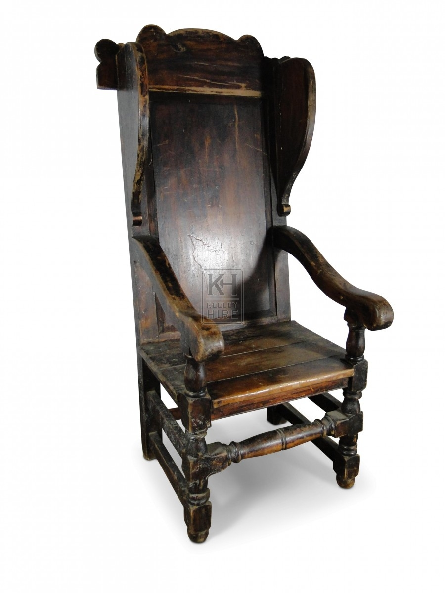 Solid Back Arm Chair