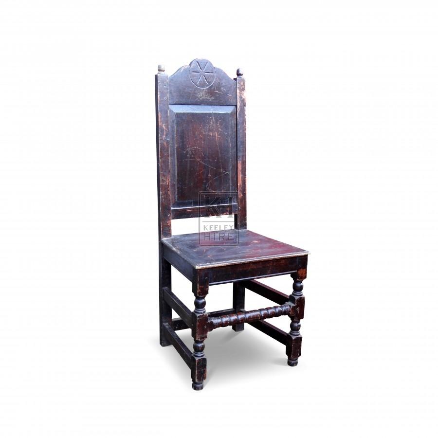 Dark wood polished chair