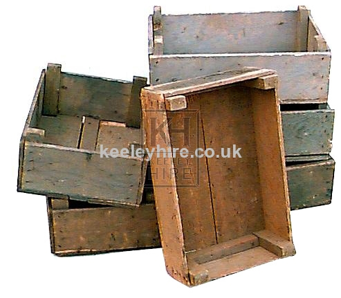 Assorted wood veg crates