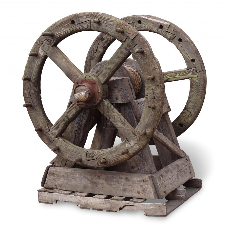 Large Wood Cog Wheel