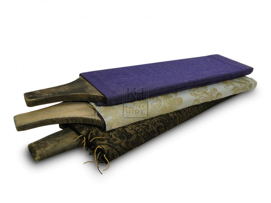 Fabric on wooden roll with handle