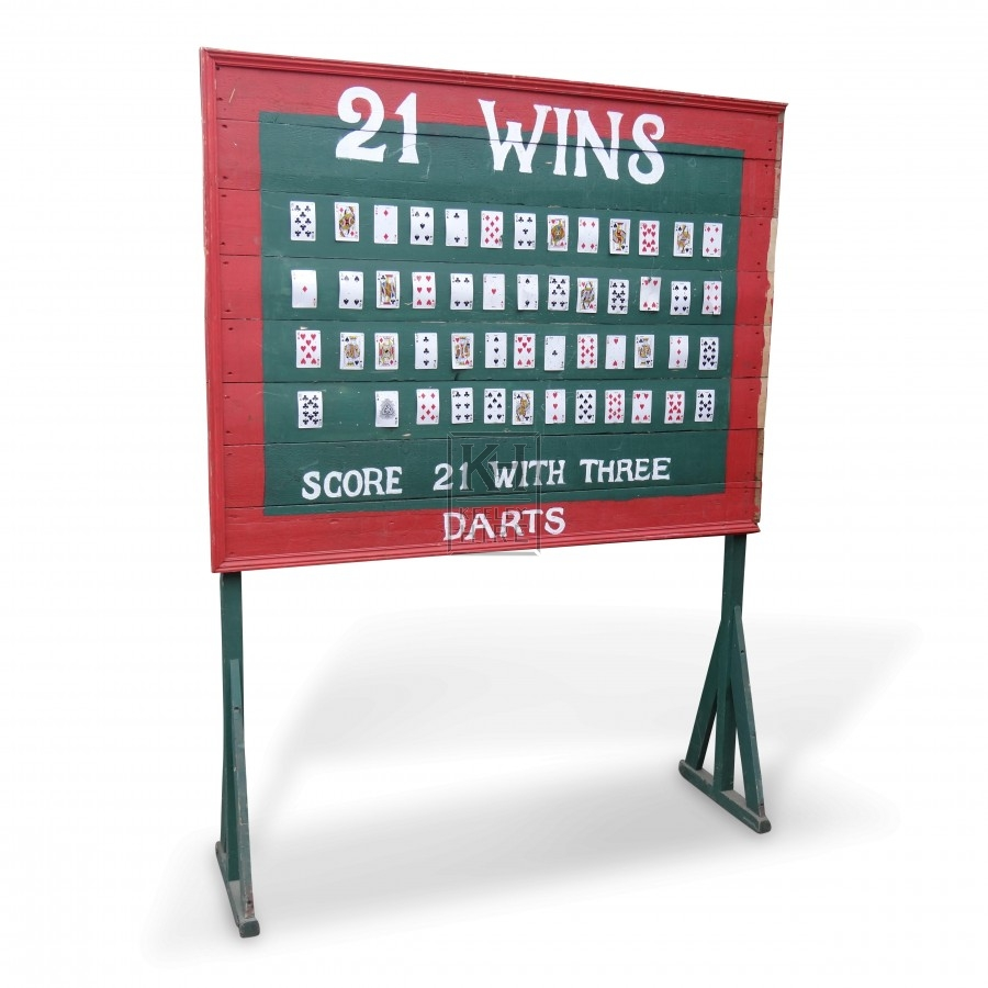 21 Wins Darts Fairground Stall