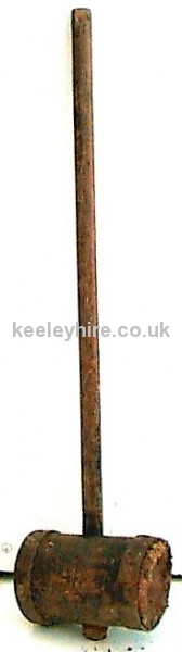 Long handle wood mallet