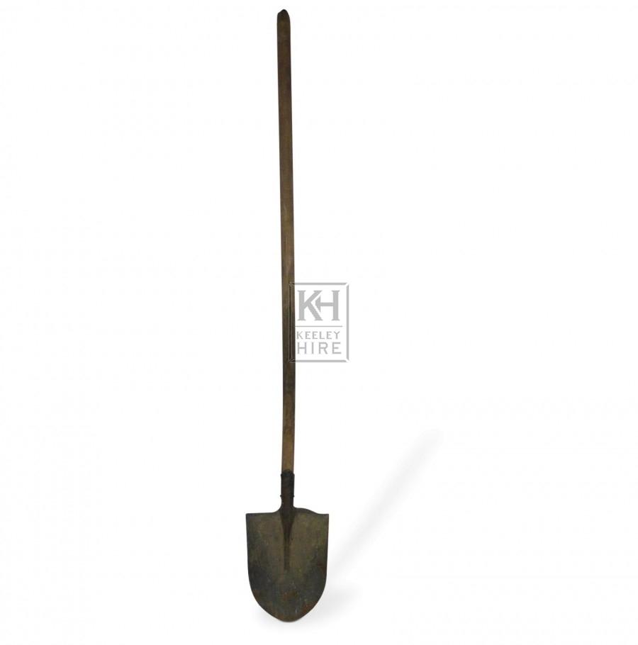 Long Handled Pointed Shovel