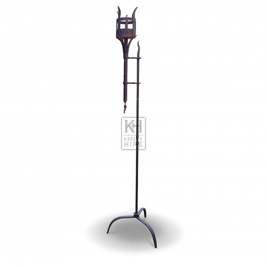 Tall Floorstanding Iron Flambeaux #1
