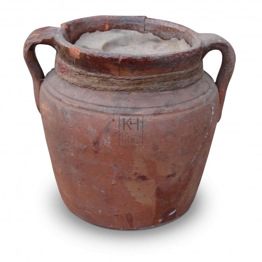 Clay Pot Oil Lamp