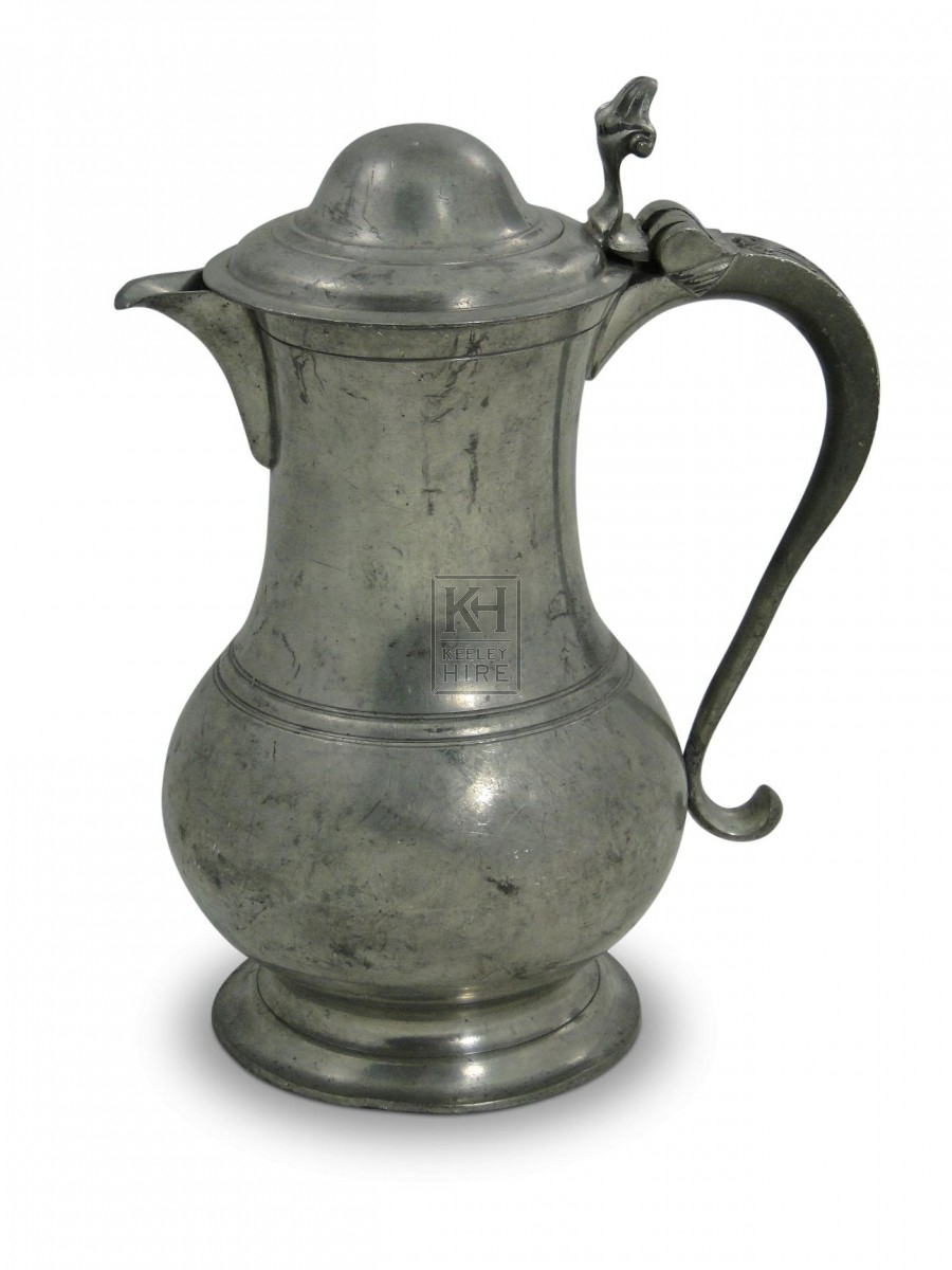 3 Pint Rounded Pewter Flagon