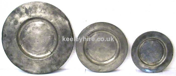 Pewter plate - 3 sizes available