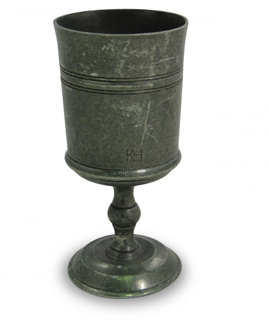 Chatsworth Stripe Pewter Goblet Dull