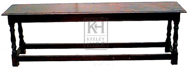 Polished wood bench
