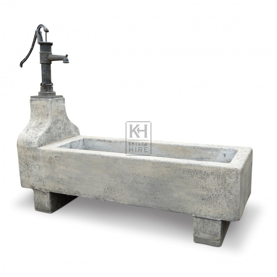 Stone Trough With Pump