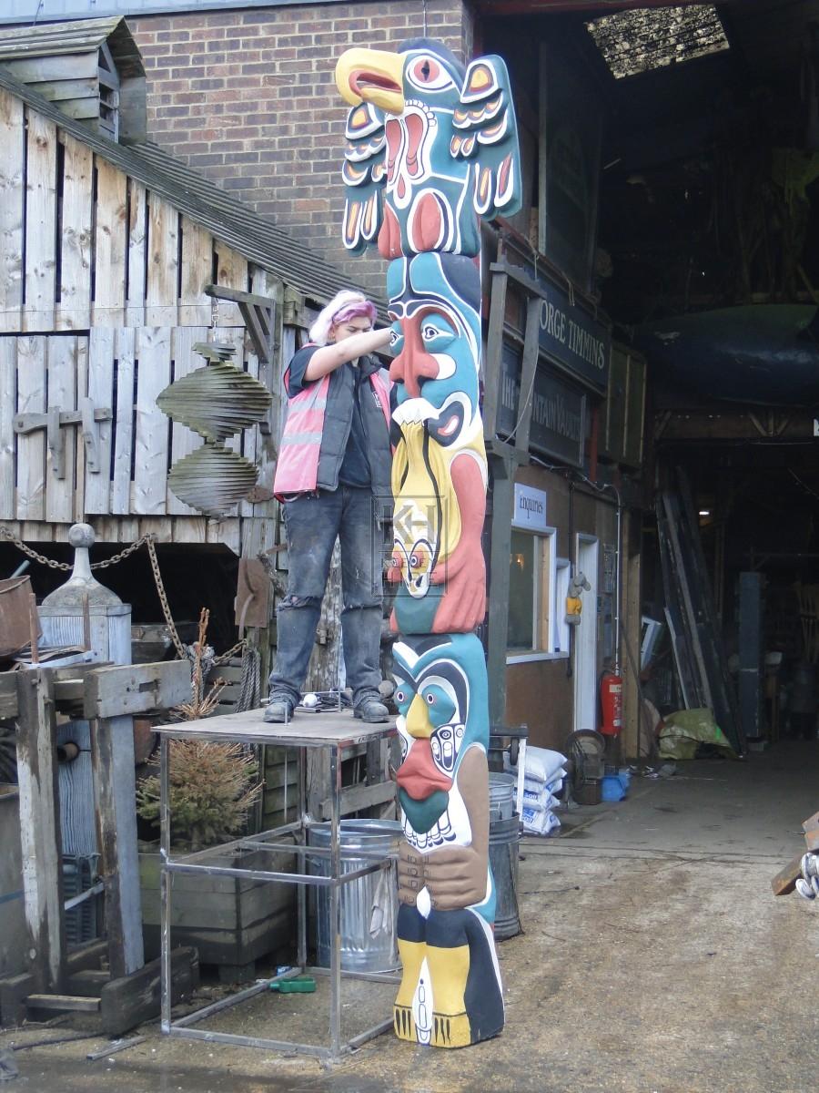 Grey Totem Pole