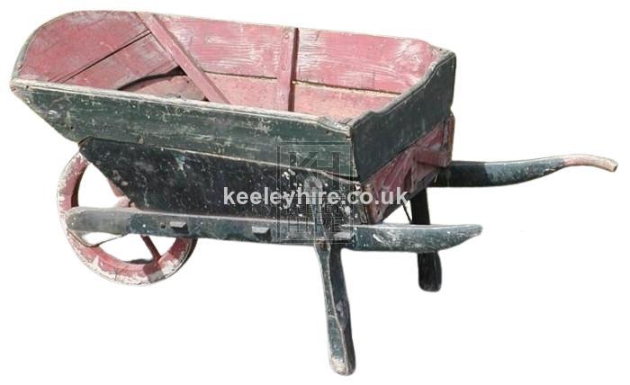 Large wood wheelbarrow