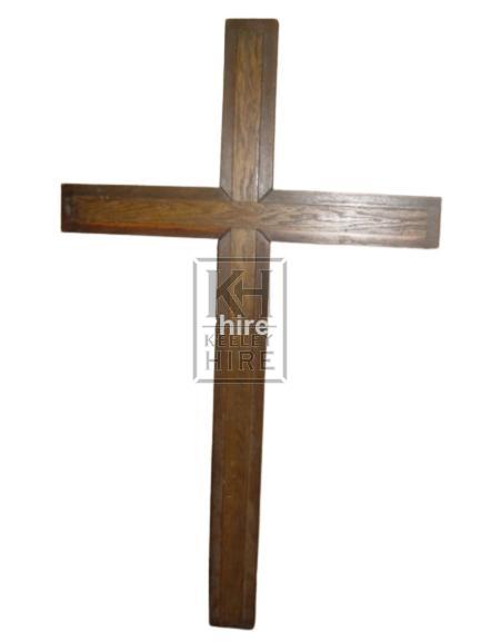 Large polished wood cross