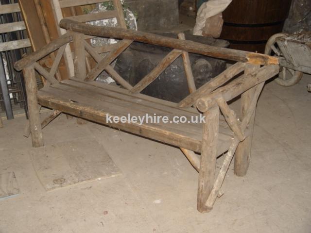Wood rustic chair