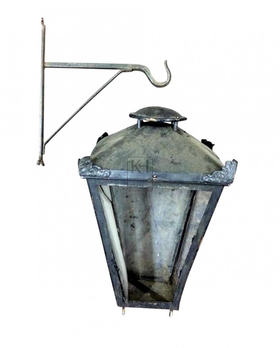 Hanging Lamp on Iron Bracket