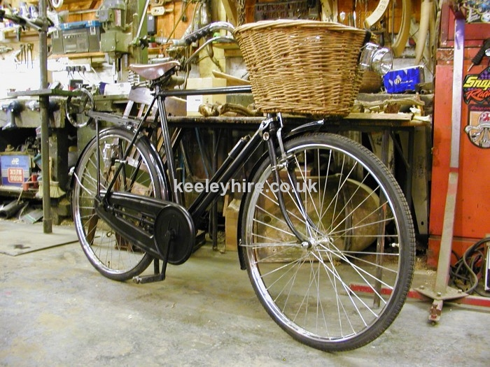 Period gentlemens bicycle with basket