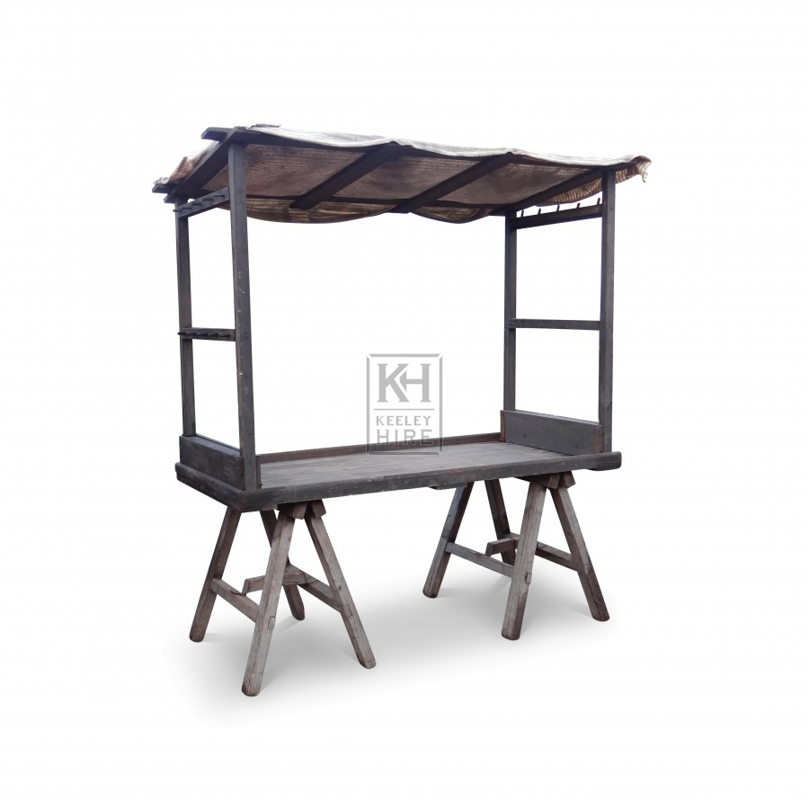 Wooden Trestle Market Stall