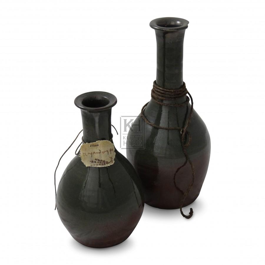 Glazed Pottery Bottles