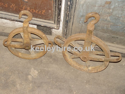 Iron pulley wheels
