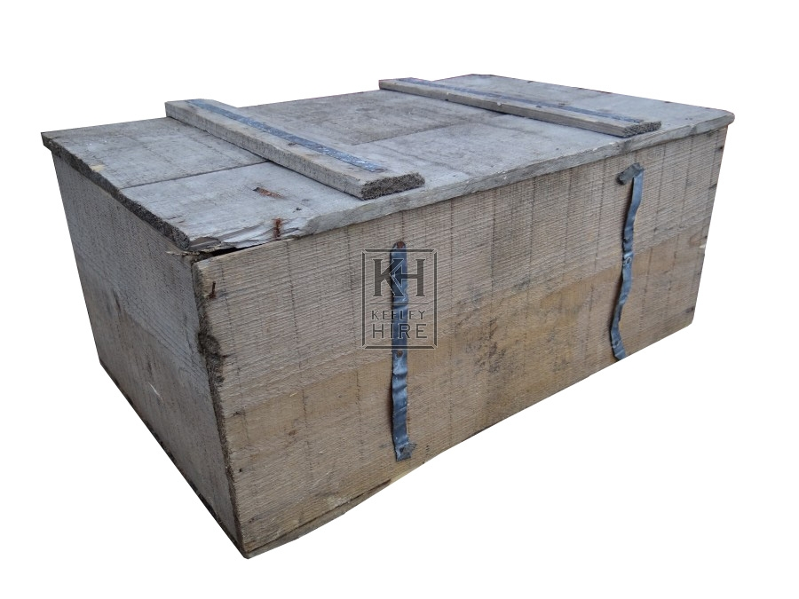 Small wood packing crate