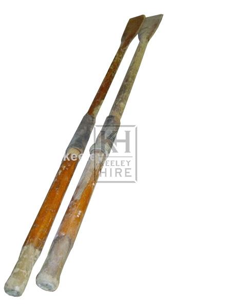 Wooden Oars pair