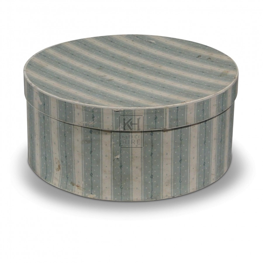 Hat Box - Blue Stripe