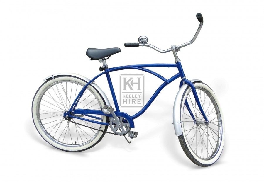Blue American Bicycle with mudguards