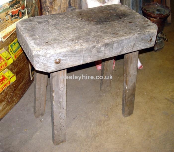 Rectangle butchers block table