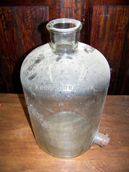 Large Glass Bottle with stopper on side