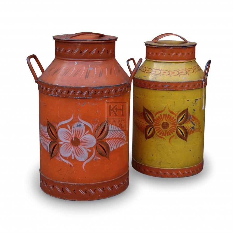 Bargeware Painted Churns