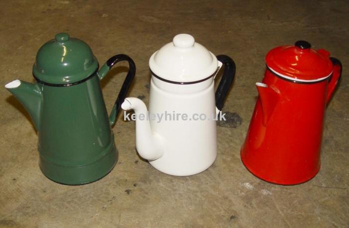 Small Enamel Coffee Pots