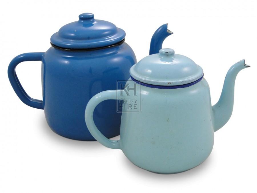 Enamel Teapots - Blue