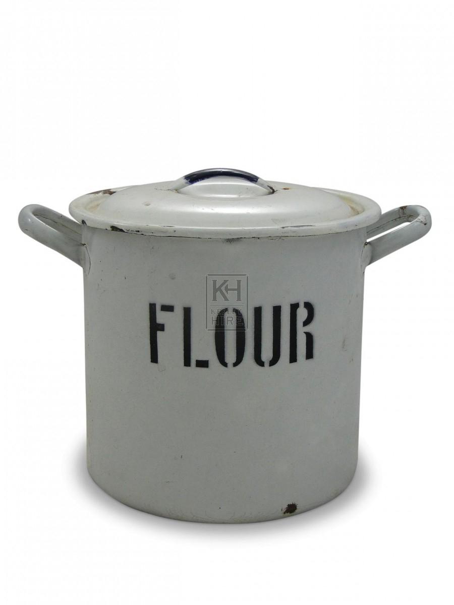Enamel Flour Tin