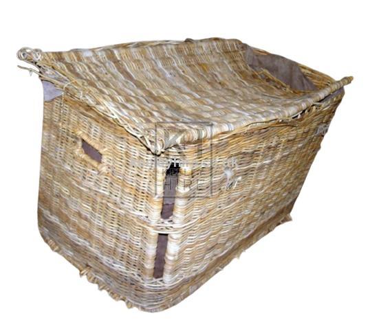 Large wicker skip basket