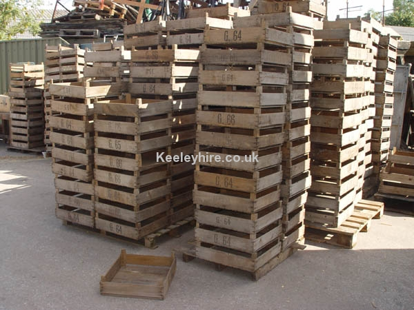 Shallow wood crates
