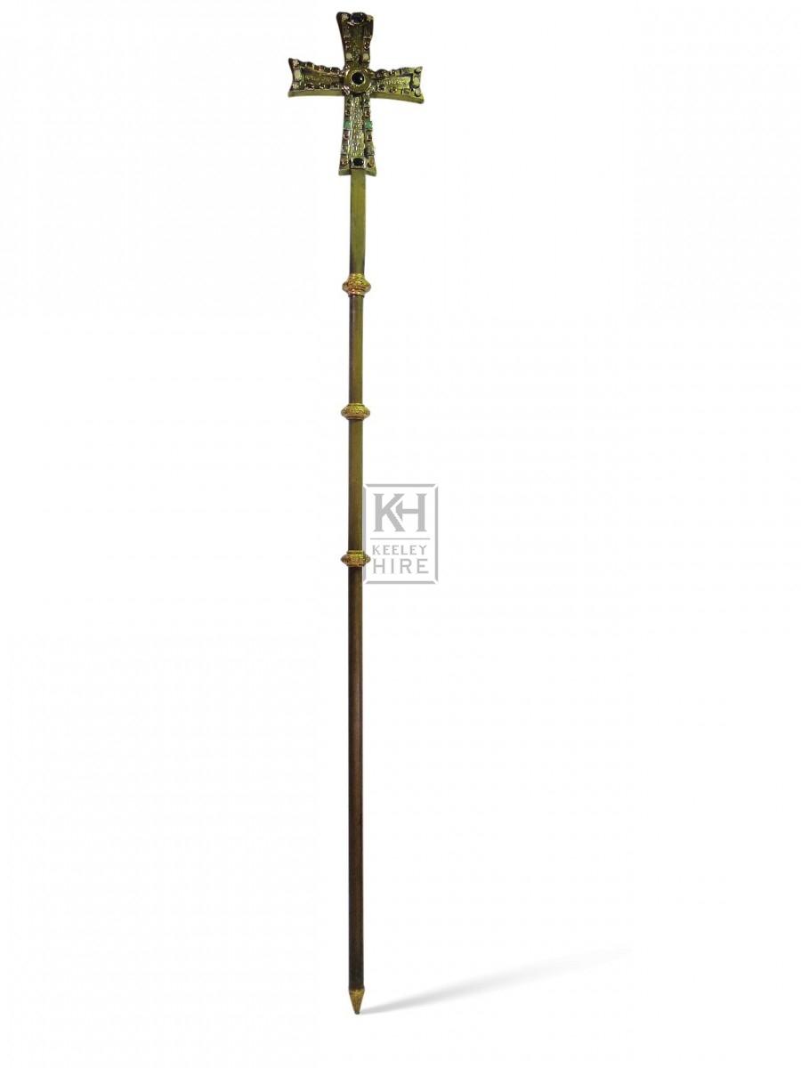 Large Cross on Pole