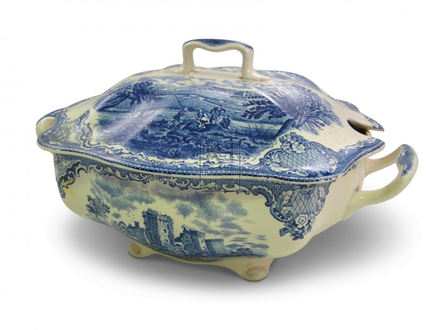 Blue China Soup Tureen